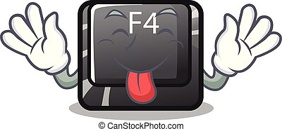 f4, botón, computadora, lengua, mascota, afuera