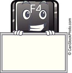 f4, botón, installed, el hacer muecas, tabla, teclado,...