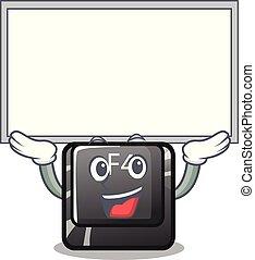 f4, botón para arriba, installed, tabla, teclado, caricatura