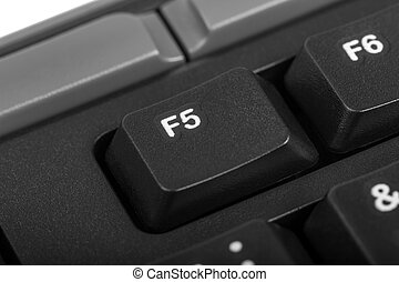 f5, -, detalhe, cobrança, tecla computador, eletrônico