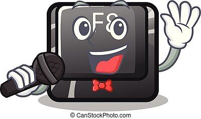 f8, bouton, installed, informatique, chant, mascotte
