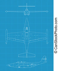 F89 Scorpion - High detailed vector illustration of old...