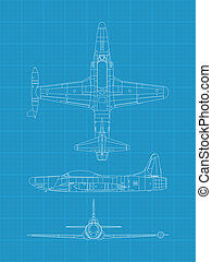 F94 Starfire - high detailed vector illustration of old ...