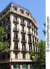 façade bâtiment, barcelone