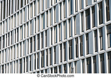 façade bâtiment, bureau, modèle