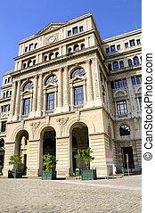 façade bâtiment, havane, vieux