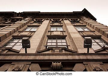 façade, bâtiment, historique