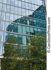 façade bâtiment, moderne, londres, bureau