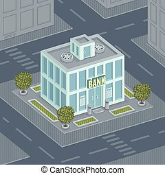 façade, banque