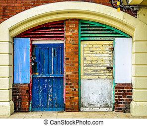 façade, coloré