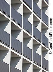 façade, de, a, résidentiel, bâtiment