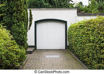 façade, garage, door., portes