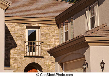 façade, maison, récemment
