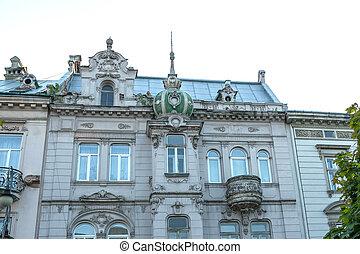 Photo de stock de fa ade maison balcon csp9486592 for Balcon facade maison