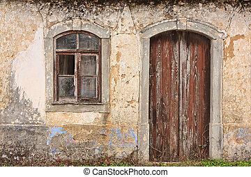 façade, maison, vieux