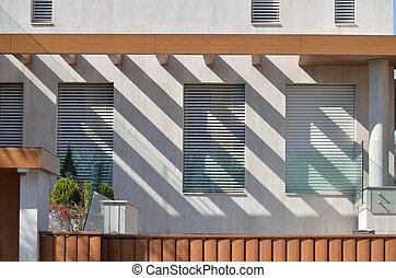 façade, moderne