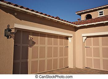façade, nouveau, résumé, construction, maison