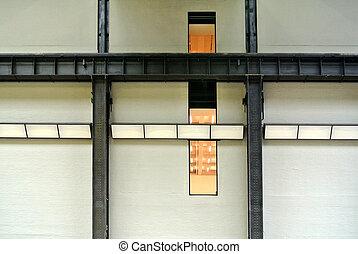façade, structure métal