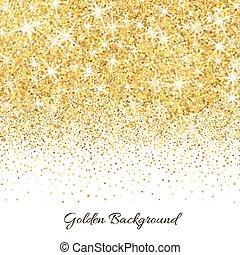 faíscas, textura, ouro, brilhar