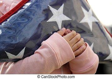 fałdowy, bandera, 2