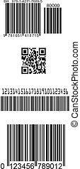 fałszować, komplet, barcodes