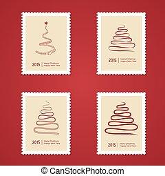 fa, állhatatos, karácsony, topog, postaköltség