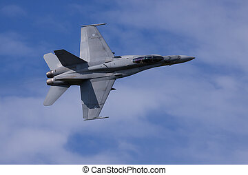 F/A-18 Hornet in flight