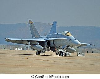 F/A-18 Hornet - An F/A-18 Hornet on the Flightline at MCAS...