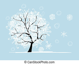 fa, -e, holiday., tél, karácsony, design.