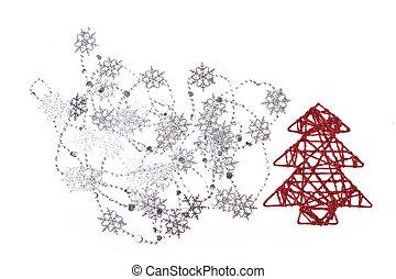 fa, karácsony, hópihe