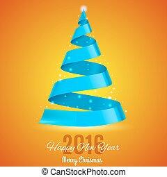 fa, karácsony, szalag