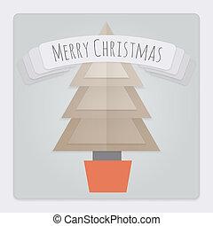 fa, karácsonyi üdvözlőlap