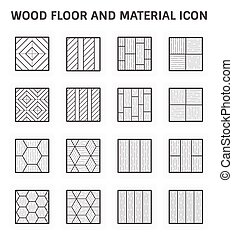 fa padló, ikon