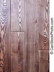 fa padló, struktúra