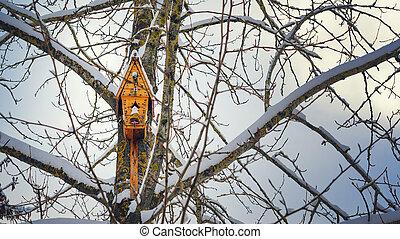 fa tél, birdhouse