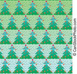 fa, vektor, karácsony, ábra