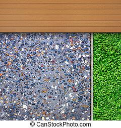 faanyag, adalékanyag, fű, részletek