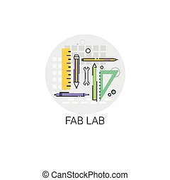 Fab Lab Modern Technology Device Icon Vector Illustration