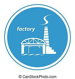 fabbrica, icona