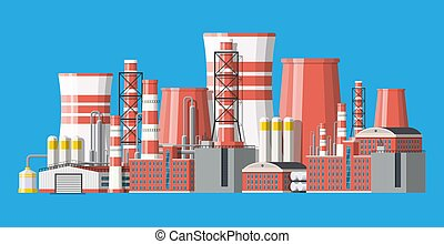 fabbrica, industriale, plant., potere