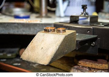 fabbricazione, jewelery, mestiere, lavorativo, scrivania