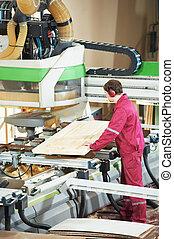 fabbricazione, legno, porta, carpenteria