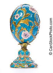 Faberge egg. Isolated on white.