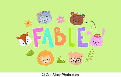 Fable Animals Lettering
