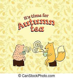 fable card for autumn tea