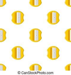 fabric., 白, 漫画, バックグラウンド。, 網, ベクトル, seamless, 黄色, sharpener, デザイン, 鉛筆, style., イラスト, 包むこと, パターン, ペーパー