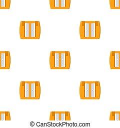 fabric., 白, 漫画, バックグラウンド。, 網, ベクトル, seamless, sharpener, デザイン, 鉛筆, style., イラスト, 包むこと, オレンジ, パターン, ペーパー