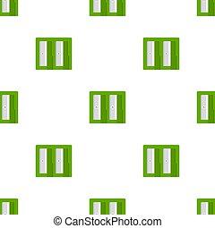 fabric., 白, 漫画, バックグラウンド。, 網, ベクトル, seamless, sharpener, デザイン, 鉛筆, style., green., イラスト, 包むこと, パターン, ペーパー