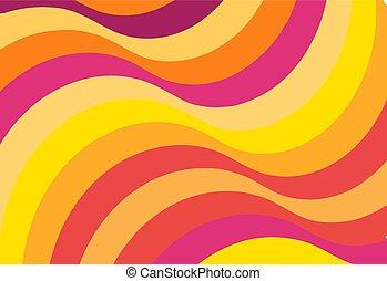 fabric., 顏色, 圖案, 摘要, 背景。, 起浪的線