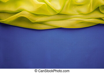 Fabric Background, Cloth Wave Title Border, Frame Pattern -...